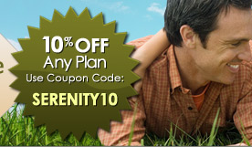 10% off any plan.  Use Coupon Code: SERENITY10